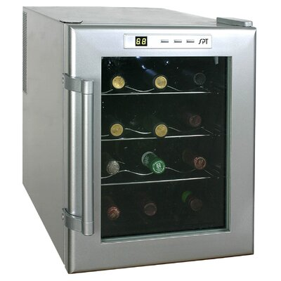 Sunpentown 12 Bottle Wine Single Zone Thermoelectric Wine Refrigerator