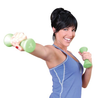 Tone Fitness Hourglass Shaped Dumbbells