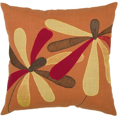"Rizzy Home T-3833 18"" Decorative Pillow in Orange"