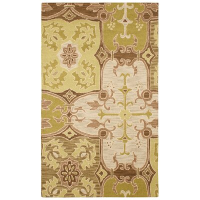 Rizzy Home Country Green/Beige Bubblerary Rug