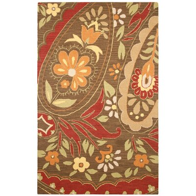 Rizzy Home Country Multi/Red Bubblerary Rug