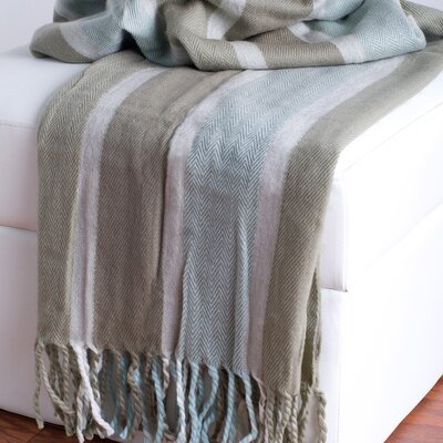 Rizzy Home Acrylic Herringbone Throw