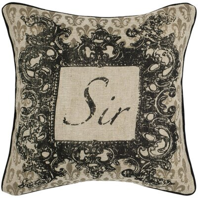 Decorative Pillow with Button Closure