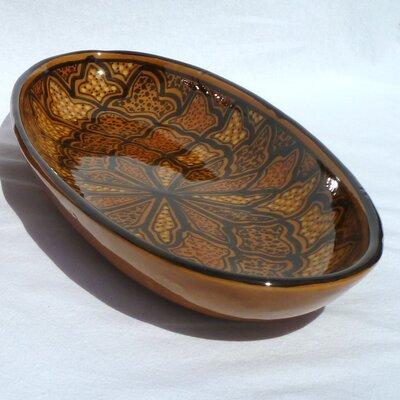 "Le Souk Ceramique Honey Design 16"" Oval Platter (Set of 2)"