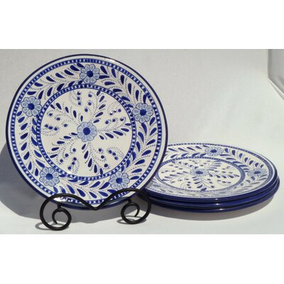 Le Souk Ceramique Azoura Design Dinner Plates (Set of 4)