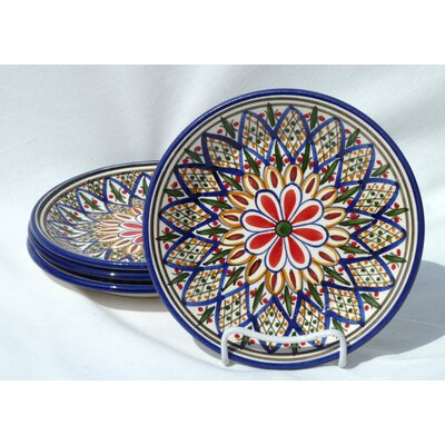 Le Souk Ceramique Tabarka Design Side Plates (Set of 4)