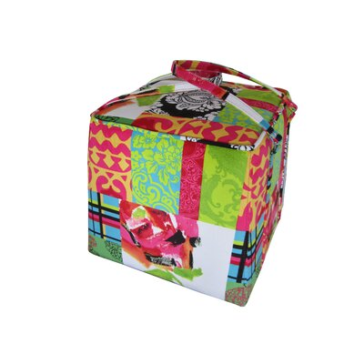 Moe's Home Collection Bagaglio Fabric Square Ottoman
