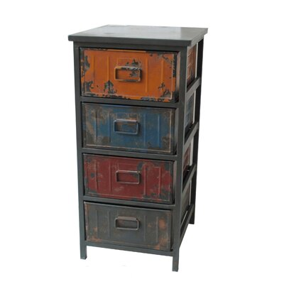Moe's Home Collection Paintbox Small 4 Drawer Cabinet
