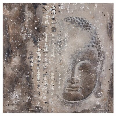 Moe's Home Collection Subtle Buddha I Painting Print on Canvas