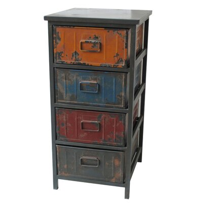 <strong>Moe's Home Collection</strong> Paintbox Small 4 Drawer Cabinet