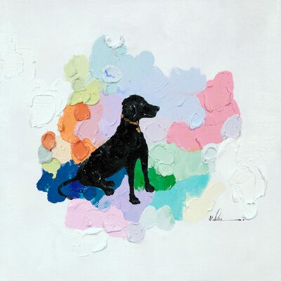 Moe's Home Collection Dog Painting Print on Canvas