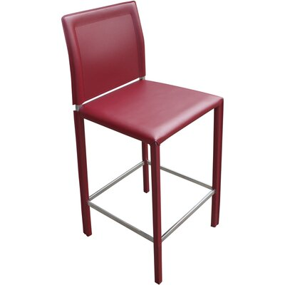 Moe's Home Collection Stallo Counter Stool in Dark Red