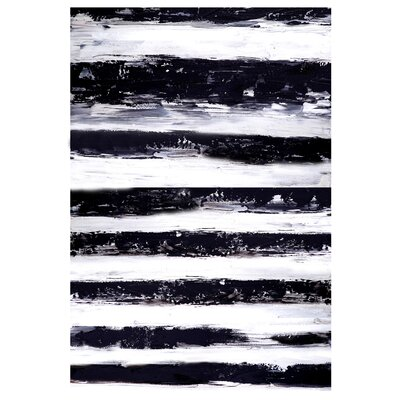 Stripes Horizontal Painting Print on Canvas
