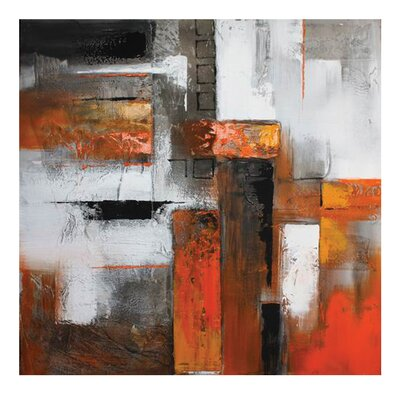 Moe's Home Collection Orange Abstract I Painting Print on Canvas