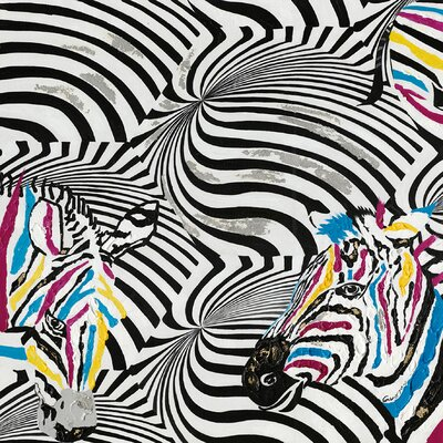 Moe's Home Collection Zebra Painting Print on Canvas
