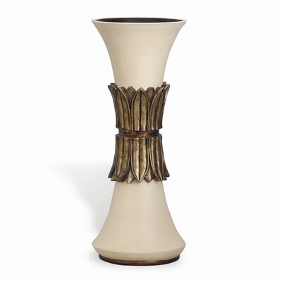 Francisco Large Trumpet Vase in Ivory