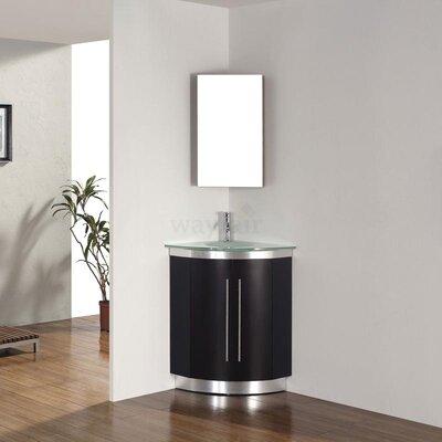 Diara 31 quot single corner bathroom vanity set wayfair