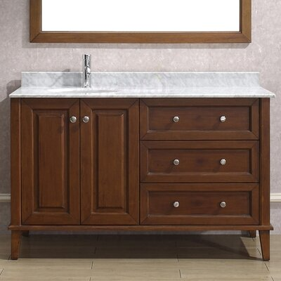 55 inch vanity wayfair. Black Bedroom Furniture Sets. Home Design Ideas