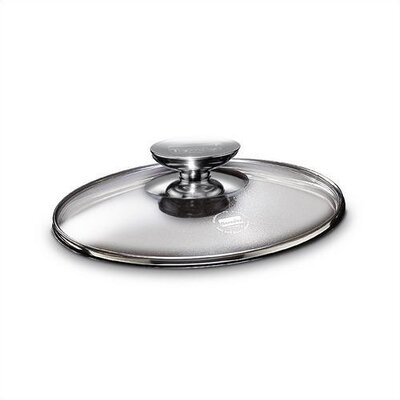 "Berndes Tricion 7"" Glass Lid with Stainless Lid Knob"