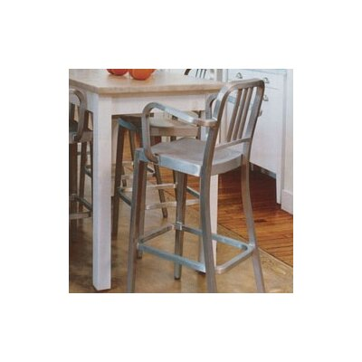 "Emeco Navy 30"" Barstool with Arms"