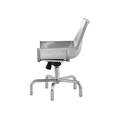 Emeco Sezz Swivel Chair with Glides