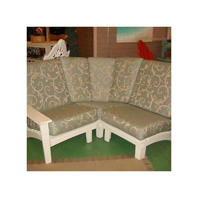 Uwharrie Chair Chat Corner Sectional Piece with Cushions