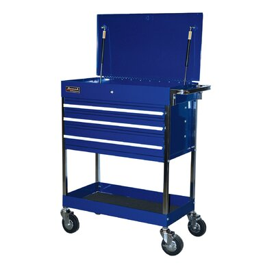 "Homak Professional 34"" Wide 3 Drawer Service Cart"