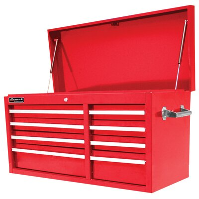 Homak 41 Se Series 8 Drwr Top Chest - Red