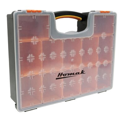 Homak Plastic Organizer W/ 12 Removable Bins