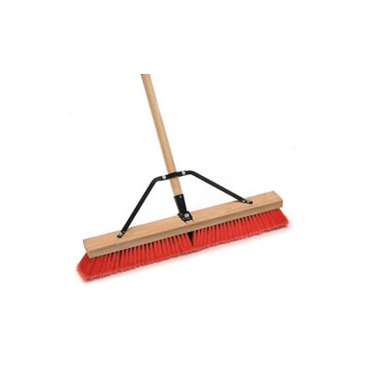 Laitner Brush Assembled18 Pe Block Med Flag Red/Black