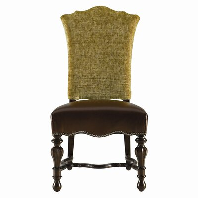 Stanley Furniture Grand Continental Padrona Leather Side Chair