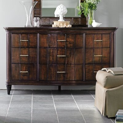 Avalon Heights Serpentine 9 Drawer Dresser
