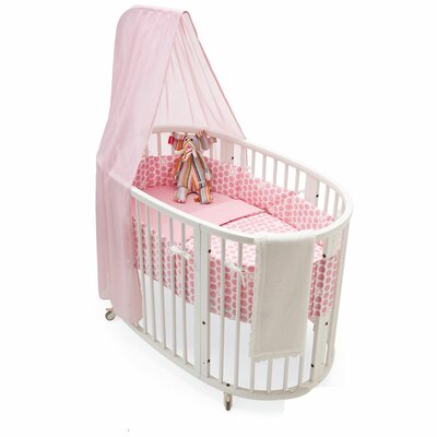 Stokke Sleepi Crib Bedding Collection in Pink Dots