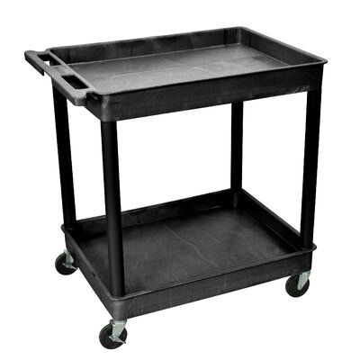 "Luxor 39"" 2 Tub Shelf Utility Cart"