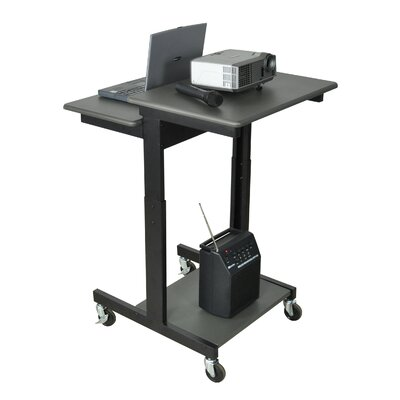 Luxor Mobile Adjustable Height Computer Workstation