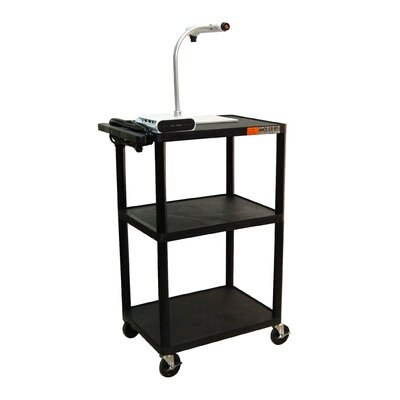 "Luxor 42"" High AV Cart in Black"