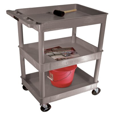 Luxor Three Tub Shelf Utility Cart