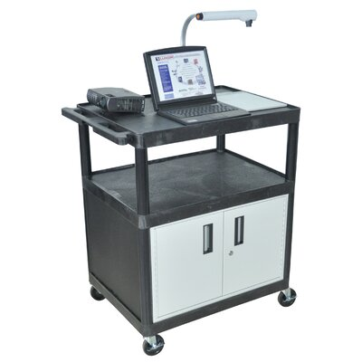Luxor LP Series AV Cart with Locking Cabinet/Electric