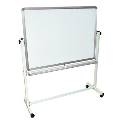 "Luxor Mobile Magnetic Whiteboard 48"" x 36"""