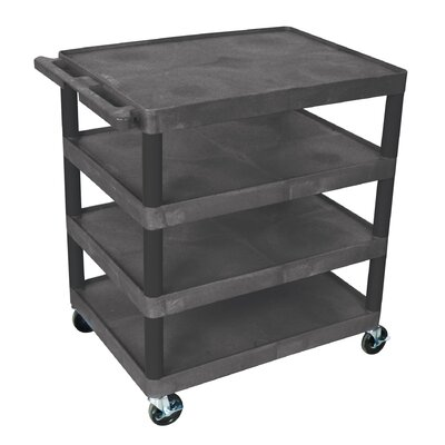 "Luxor 37.75"" 4 Shelf Utility Cart"