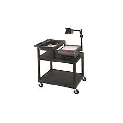 Luxor Stand-Up Table for Large Overhead Projectors with Top Shelf Storage Tray