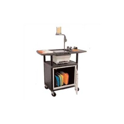 Luxor Stand-Up Overhead Projector Table with Cabinet (Set of 4)