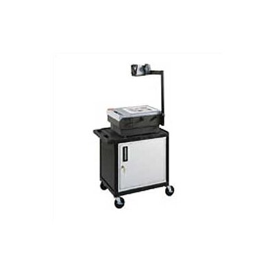 Luxor Open Shelf Endura Equipment AV Cart with Locking Cabinet