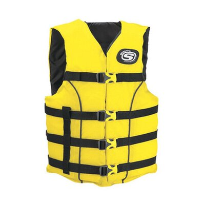 Stearns PFD 5311 Universal Classic Adult Ski Nylon Life Vest in Yellow