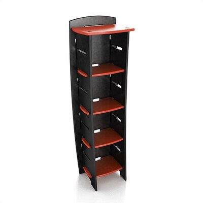 Legare Furniture Select Kids Series 59&quot; Tall Bookcase in Red / Black