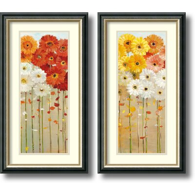 Daisies Fall 2 Piece Framed Print Set By Danhui Nai