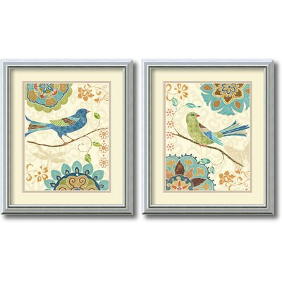 Eastern Tale Birds Framed Print by Daphne Brissonnet (Set of 2)