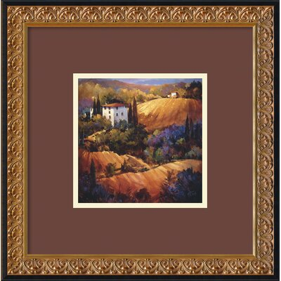 'Evening Glow Tuscany' by Nancy O'Toole Framed Painting Print