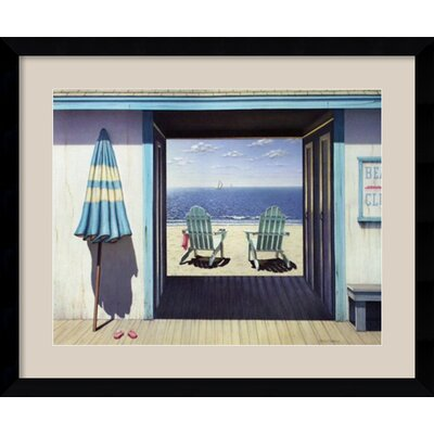 'The Beach Club' by Daniel Pollera Framed Painting Print