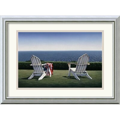 'Spring House View' by Daniel Pollera Framed Painting Print